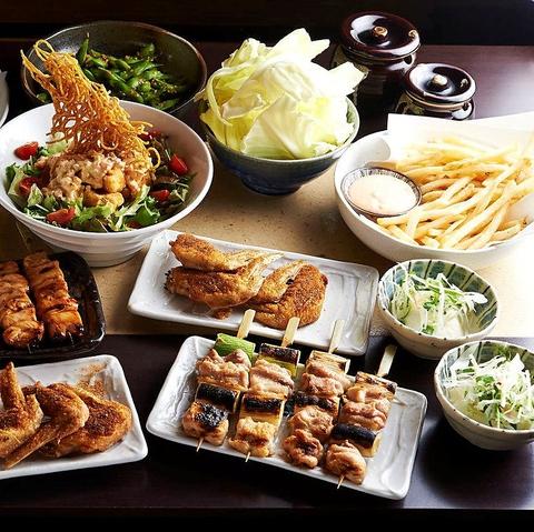 横浜の焼き鳥が美味しい居酒屋[とりいちず]の女子会コース