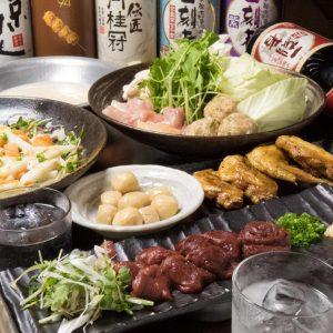 とりいちず 新横浜店の鶏料理もお酒もしっかり楽しめるコース
